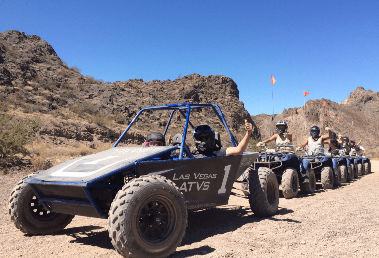 Dune Buggy And Grand Canyon Helicopter With Champagne Landing