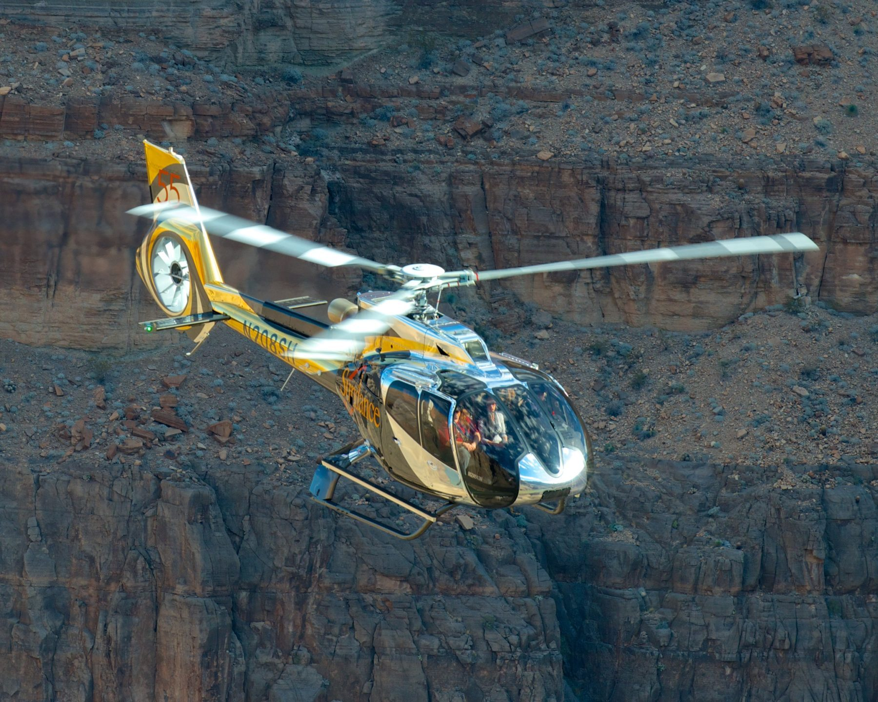 Grand Canyon Helicopter Tour On An EC130T2